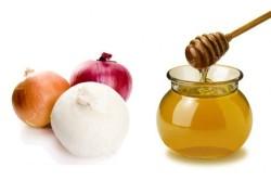 Польза лука и меда при насморке у ребенка