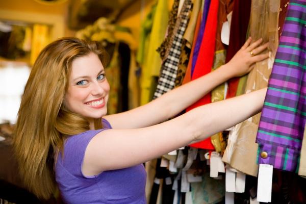 Женщина на шоппинге